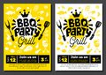BBQ party Food poster. Barbecue template menu invitation flyer d Royalty Free Stock Photo