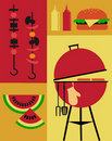 Bbq party invitation template Stock Photography