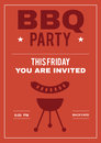 BBQ Party Invite Poster of Invitation Card
