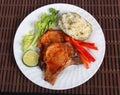 Bbq pork chop cutlet meal Stock Photo