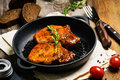 BBQ pork chops in sweet glaze Royalty Free Stock Photo