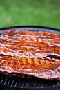Bbq ribs st louis style glazed in sauce Stock Image