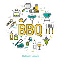 BBQ - round linear concept