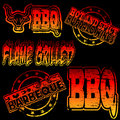 BBQ Rubber Stamp Stock Photos