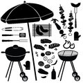 BBQ set. Barbecue Grill Icons