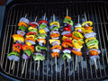 BBQ Vegetable Kabob Royalty Free Stock Photo
