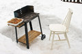 BBQ during the winter Stock Image