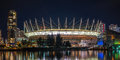 Bc place vancouver canada september stadium at night on september is a year round open air facility the largest Royalty Free Stock Image