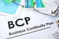 BCP Business Continuity Plan. Royalty Free Stock Photo
