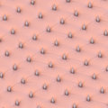 Bdsm spikey leather chesterfield upholstery skin colored military perspective Stock Photography