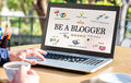 Be A blogger Concept On Computer Screen