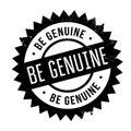 Be genuine stamp
