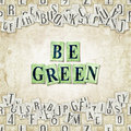 Be green seamless background with letters linux libertine fonts used in the image gpl and ofl license Stock Photos