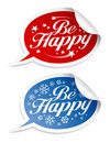 Be Happy stickers Royalty Free Stock Photography