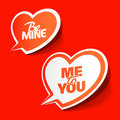 Be Mine and Me to You - enamored bubbles Stock Photography