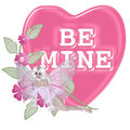 Be Mine Pink Candy with Fae Royalty Free Stock Images