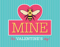 Be Mine Valentine Emblem Royalty Free Stock Photo