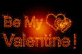 Be my valentine abstract fire background Royalty Free Stock Images
