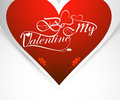 Be my valentine card for heart colorful background Stock Image