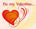 Be my valentine greetings card Royalty Free Stock Photos