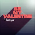 Be my valentine i love you design words on striped background with Stock Image