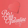 Be my valentine illustration valentines day greeting card or background Stock Photography