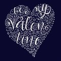Be my valentine quote on dark blue background. Royalty Free Stock Photo