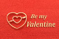 Be my valentine symbolic image for valentines day a golden heart pierced with an arrow from cupid Royalty Free Stock Images