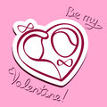 Be my valentine vector illustration for s day Royalty Free Stock Photography