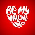 Be my valentine vector st s day greeting card Royalty Free Stock Photography