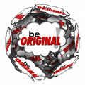 Be Original Thought Clouds Creative Inventive Imaginative Thinki Royalty Free Stock Photo
