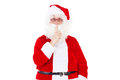 Be quiet santa claus is coming to you Stock Photo