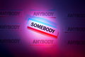 Be Somebody Royalty Free Stock Photos