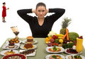 Be Strong and Eat Healthy Royalty Free Stock Photo