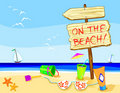 On the beach! Royalty Free Stock Photo