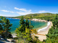 Beach acadia national park autumn Stock Photo