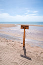 Beach access sign way to the Royalty Free Stock Image
