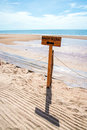 Beach access sign way to the Royalty Free Stock Images