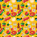 Beach accessories seamless pattern Royalty Free Stock Image