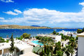 The beach on aegean turkish resort bodrum turkey Royalty Free Stock Photo