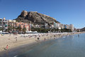 Beach in Alicante, Catalonia Spain Stock Photography