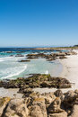 The beach along the coast of monterey california a view a Stock Photography