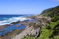 Beach along the otter hiking trail south africa rocky Royalty Free Stock Photos