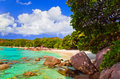Beach Anse Lazio at island Praslin, Seychelles Royalty Free Stock Photo