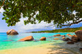 Beach Anse Lazio at Seychelles Stock Images