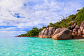 Beach Anse Lazio at Seychelles Stock Photos