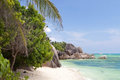 Beach anse source dargent seychelles d argent at nature background Stock Photo