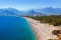 Beach at Antalya Turkey Royalty Free Stock Photo