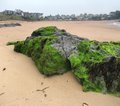 Beach around saint malo scenery a port city in northwestern france Royalty Free Stock Images
