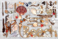 Beach Art Abstract Collage Royalty Free Stock Photo